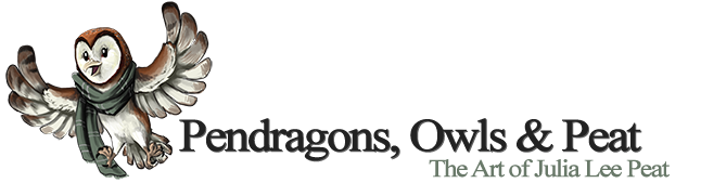 Pendragons, Owls & Peat Logo